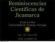Cesar La Hoz Universidad de Tromsø, Noruega - Instituto Geofísico ...