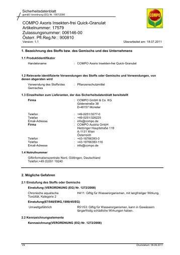 Sicherheitsdatenblatt - raiffeisen.com