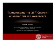 TRANSFORMING 21 CENTURY ACADEMIC LIBRARY WORKFORCE