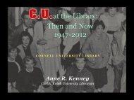 at the Library Then and Now 1947-2012