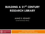 BUILDING A 21 CENTURY RESEARCH LIBRARY