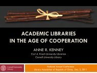 ACADEMIC LIBRARIES IN THE AGE OF COOPERATION