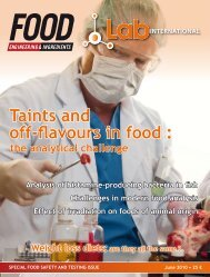 taints and off-flavours in food: the analytical challenge