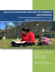 Access to Postsecondary Education for Individuals with Disabilities