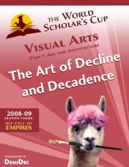 VISUAL ARTS RESOURCE PAGE 1 OF 79 WORLD SCHOLAR'S CUP © 2008