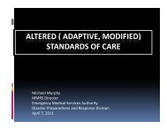 ALTERED ( ADAPTIVE MODIFIED) STANDARDS OF CARE