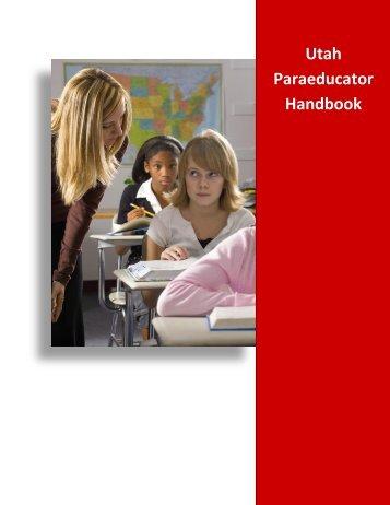 Paraeducator Handbook