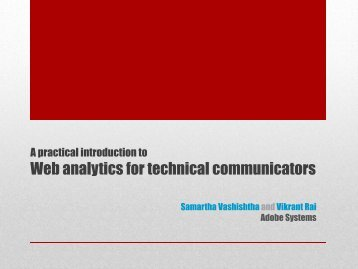 Web analytics for technical communicators