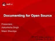 Documenting for Open Source