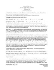 Trustees Approved Minutes May 16 2012 - Madison Library