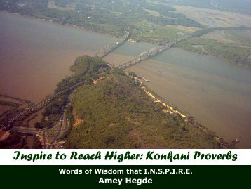 Inspire to Reach Higher Konkani Proverbs