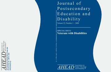 Veterans with Disabilities in Postsecondary Education