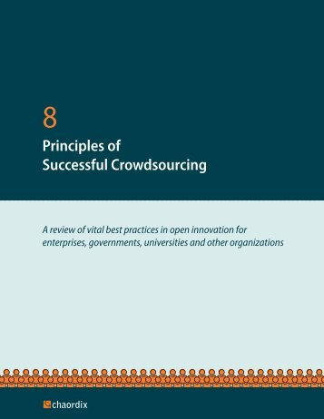 Principles of Successful Crowdsourcing