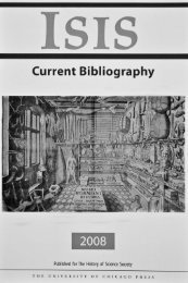 Isis Current Bibliography 2008 - History of Science Society