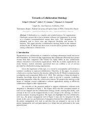 Towards a Collaboration Ontology - UFES