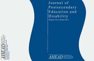 Journal of Postsecondary Education and Disability, 24(1) - AHEAD