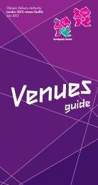 Venues guide - London 2012 Olympics