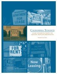 California Tenants