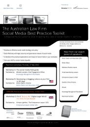 The Australian Law Firm Social Media Best Practice Toolkit