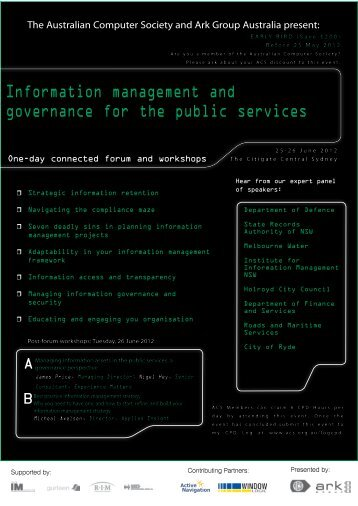Information management and governance for the public services