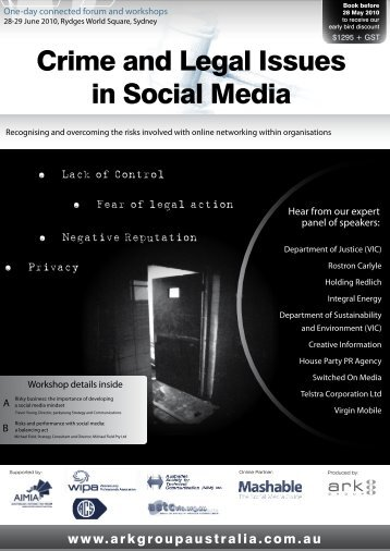 Crime and Legal Issues in Social Media