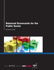 Balanced Scorecards for the Public Sector