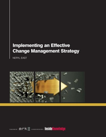 Implementing an Effective Change Management Strategy
