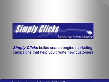 Search engine marketing strategy - Simply Clicks