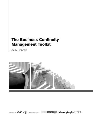The Business Continuity Management Toolkit