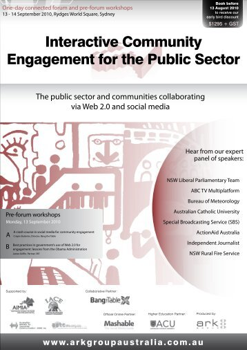 Interactive Community Engagement for the Public Sector