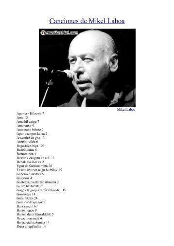 Canciones de Mikel Laboa