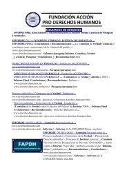 Fundación Acción Pro Derechos Humanos - Papeles de Sociedad.info