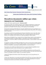 Descubren documento militar que relata masacres en Guatemala