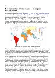 La Soberanía Estadística y la salud de las mujeres latinoamericanas