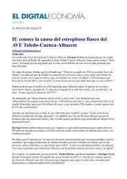 IU conoce la causa del estrepitoso fiasco del AVE Toledo-Cuenca-Albacete