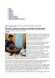 Hombres armados irrumpen en periódico El Libertador