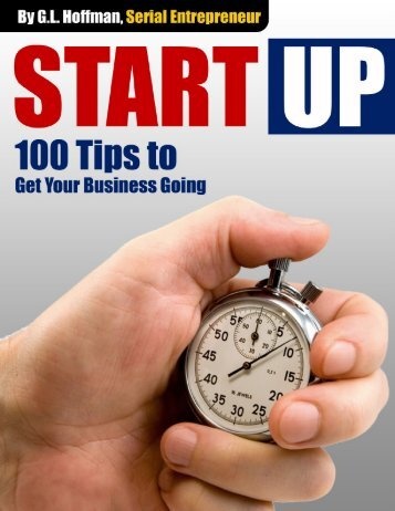 100 StartUp Tips to Get Your Business Going - Job-Hunt.org