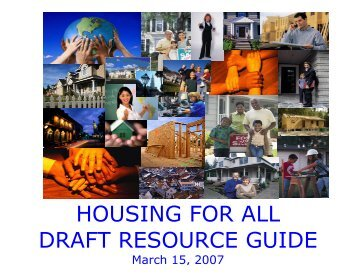 housing for all draft resource guide - Lowcountry Housing Trust