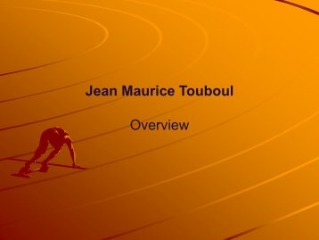 Jean Maurice Touboul Overview
