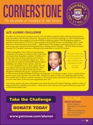 Fall 2012 Cornerstone Newsletter - Providence St. Mel