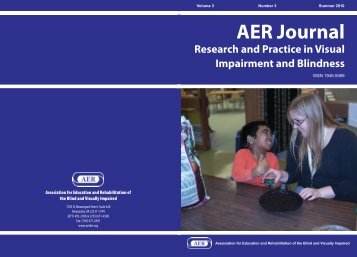 Association for Education and Rehabilitation of the ... - AER Online