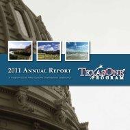 2011 Annual Report - TexasOne Program