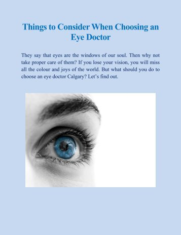 Things to Consider When Choosing an Eye Doctor.pdf