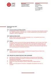 Regeländerungen 2010 23.11.2009 2-01 Zusammensetzung der ...