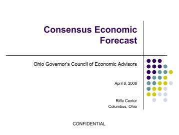 Consensus Economic Forecast