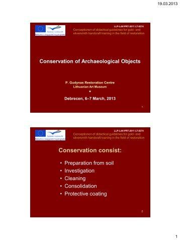 Conservation consist
