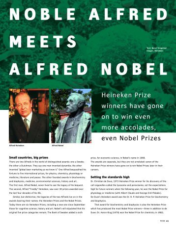 NOBLE ALFRED MEETS ALFRED NOBEL