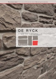 Scarica il catalogo - De Ryck by Weser - decorative stones for the in