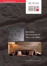 Dekorative Steinprodukte für innen und außen Produktprogramm