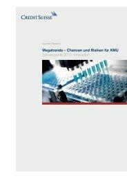 Megatrends – Chancen und Risiken für KMU Schwerpunkt 2011 Innovation
